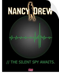 Nancy Drew: The Silent Spy poster, available in the Her Interactive merchandise store.