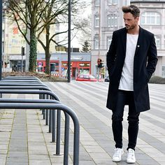 T Shirts + Overcoat? This is how you do it..    #mensfashion