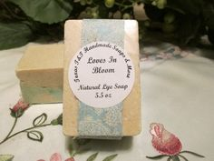 Texas T&T Home Made Natural Love In Bloom Salt Bar  5.5 oz    Sea Salt, Coconut Oil, Shea Butter by TexasTAndT on Etsy