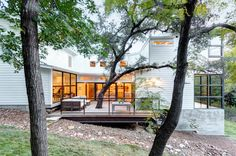 transitional exterior by Restructure Studio
