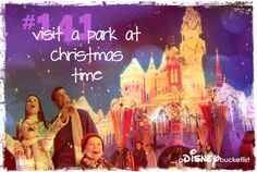 A Disney Bucket List I got to go to Disney World the week before Christmas in 2007 and it was awesome! Christmas is my favorite time to go to Disney.