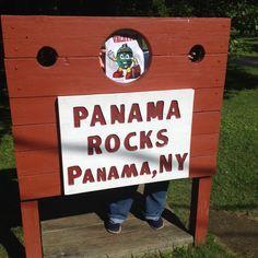 Playing around at Panama Rocks in NY