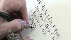 Bella Figura Calligrapher Debi Zeinert of Blooming Quill by Harold Kyle. Bella Figura Calligrapher Debi Zeinert talks about her work. See examples of her calligraphy letterpress wedding invitations in her calligraphy styles at our website, bellafigura.com. Jump right to our designs by going to http://www.bellafigura.com/letterpress-wedding-invitations.html#search=calligraphy