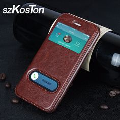 Luxury Case for iPhone 7 6 6s Plus 5s SE 7plus Cover Flip Wallet Phone Bag Case for iPhone 5 5C 5S Coque Stent Crazy Horse Lines