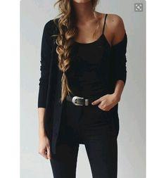 Black on black outfit cowboy belt