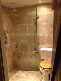 We built one which is 1.5m x 1.5m (OK, it's actually tapered from 1.6m to 1.4m on one side) Given that you are either using the toilet or using the shower (but never both at the same time), we put a hinged glass partition close to the toilet. When you're having a shower, the partition protects the toilet, etc. When you're on the throne, the partition is swung back against the wall. A bath mat in front of the toilet means that wet feet aren't walking into the next room. There's a small corner…