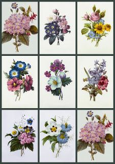 ArtbyJean - Vintage Clip Art: FLOWERS. So many possibilities for quilt labels.