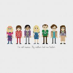 The Big Bang Theory Cross Stitch Pattern PDF by pixelsinstitches