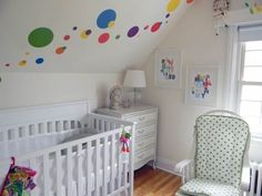 Spotted on Apartment Therapy: our Colorful Dots decals in this dotty nursery. Marvelous!