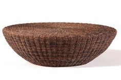 Round Woven Coffee Table Natural Abaca Woven Table Also Available in: