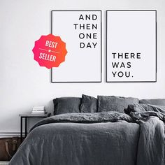 Master bedroom wall decor, Printable wall art, Above bed art, Printable love quote, Affiche scandinave Dark Living Rooms, Living Room Art, Above Bed, Family Print, Love Posters, Lokal, Woman Bedroom, My New Room, Bedroom Wall