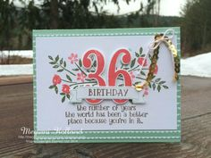 Megumi's Stampin Retreat: Number of Years Birthday Card