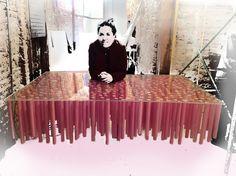 Galería de 12.000 palillos de madera pintados a Magenta / Ideo arquitectura - 25