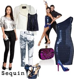 """""""Sequins for day or night"""" by patmorr ❤ liked on Polyvore"""