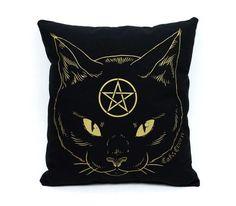 Cat Coven Pillow - Gold