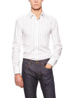 Cotton Stretch Stripe Dress Shirt by Dolce & Gabbana on Gilt.com