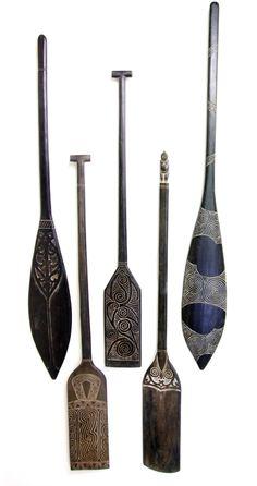 Nz Art, Maori Art, Wood Carving, Flute, Wood Crafts, Primitive, Canoe Paddles, Objects, Canoes