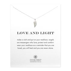 love and light angel wing necklace, sterling silverlove and light angel wing necklace, sterling silver