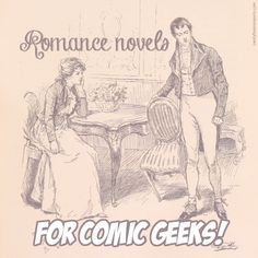 Romance novel recommendations for comic book geeks