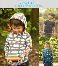 Rowan Tee pdf sewing pattern from Titchy Threads. A classic T-shirt with a huge array of options and 144 possible combinations. To celebrate you can get 15% off for the next 144 hours (ends 26th October)