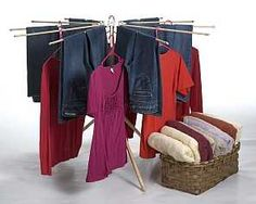 The Best wooden laundry drying rack  #MadeinUSA via BuyDIrectUSA.com Built to Last durable Eco green