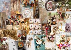www.2-nice.nl, Impression, Collage, Moodboard, Design, Wood, Autumn, Herfst, Landgoed, Landhuis, Chique, Stijlvol, Bos, Dieren, Veren, Flowers, Event, Styling, Decoration