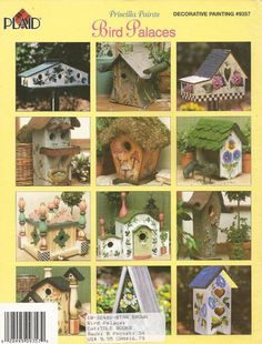 Priscilla Hauser | Bird Palaces by Priscilla Hauser Decorative Tole Painting Craft Book ...