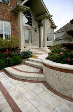 Front Entrance by Unilock with Rivenstone and Il Campo paver