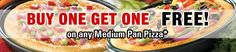 FoodPanda Wednesday Pizza Hut Offer - Buy 1 Get 1 Pizza Free