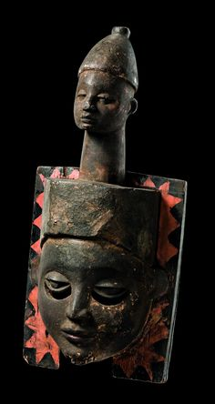 Africa | Mask from the Igbo people of Nigeria | Wood, polychrome paint
