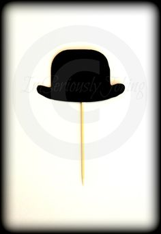 Hey, I found this really awesome Etsy listing at https://www.etsy.com/listing/226437444/cupcake-toppers-12-bowler-hat-cupcake