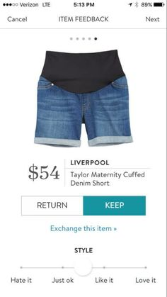 Coveted maternity shorts from stitch fix!