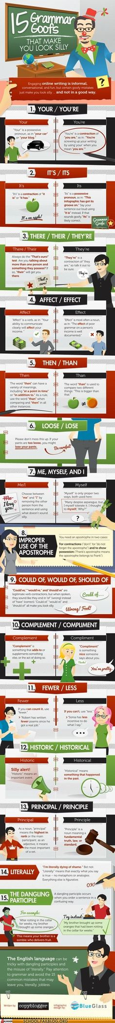 #English #Language: 15 errori comuni | #infographic