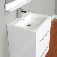 """ALYA-AT-8080-W 24"""" Single Modern Bathroom Vanity   White"""