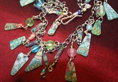 """Easy Breezy Fun Abstract Charm Necklace -- Adjustable 17"""" to 21.5"""" (www.jodinobles.com)"""