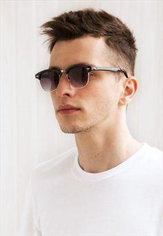 WHO CUTIE Hot Rays Square 3016 Clubmaster Sunglasses Men Women Half ... a0da0ed4ca