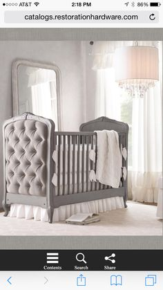 Gray color crib