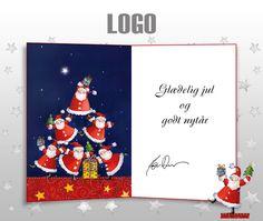 ekortet.dk leverer danmarks flotteste elektroniske julekort til virksomheder. På billedet: Julekort med logo. Julemænd. Ekort, e-kort, e-julekort, ejulekort, elektroniske julekort, ecard, e-card, firmajulekort, firma julekort, erhvervsjulekort, julekort til erhverv, julekort med logo, velgørenhedsjulekort, julekort