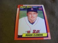 1990 Topps Baseball card #245 Roger Clemens