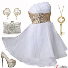 white party dress outfit