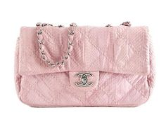 BAG, CHANEL, Wild Stitch Single Flap Bag, pink python skin, details in base metal, hologram 15912685, 25x13x5cm, dustbag, original box. #chanel  #bag #fashion #upforauction