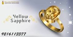 Yellow Sapphire is a gemstone that can give the owner success and chances. It has been valued by many powerful people and celebrities. Sapphire Gemstone, Gold Rings, Success, Social Media, Gemstones, Engagement, Yellow, Celebrities, People