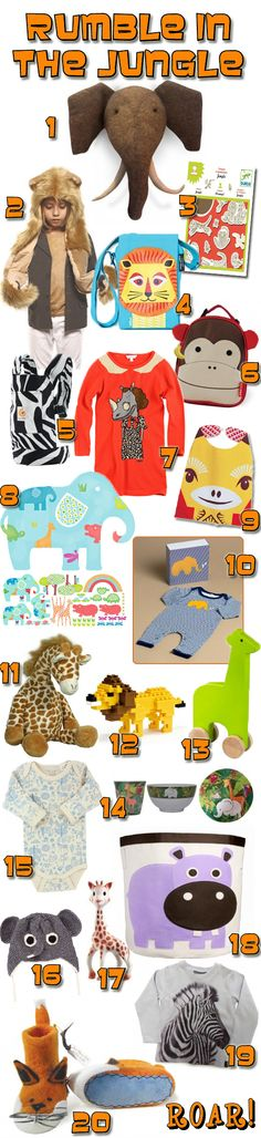 KidStyleFile Roundup: The Top 20 Best Jungle Animal Clothes, Toys & Decor Pieces for Kids
