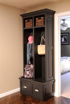 Foyer coat rack / organization system