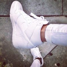 Love Nike Dunks | White Sneaker Wedges