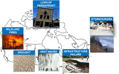 image shows current examples of how a changing climate can impact across Canada