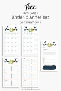 Floral antler planner inserts in and personal size – Hanna Nilsson Design Free Planner, Planner Pages, Happy Planner, Printable Planner, Free Printables, Printable Calendars, Planner Ideas, Planner Dividers, Planner Organization