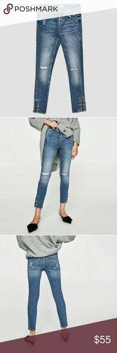 Weekend sale! Zara jeans(PRICE IS FIRM ) Brand new. Size 8  These run small. These would be better for a size 6!  Reduced from $55. NO OFFERS Zara Jeans Skinny
