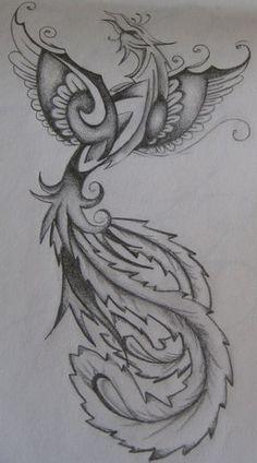 Phoenix female tattoo design by ~ EmmaJaneOGrady .- Disegno del tatuaggio femminile Phoenix di ~ EmmaJaneOGrady su deviantART Design of the female Phoenix tattoo by ~ EmmaJaneOGrady on deviantART - Phoenix Tattoo Feminine, Phoenix Tattoo Design, Tattoo Phoenix, Feminine Tattoos, Phoenix Design, Time Tattoos, New Tattoos, Tribal Tattoos, Tatoos