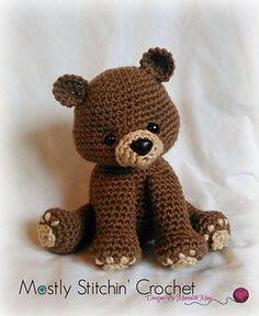 This Bear pattern is so versatile; it can be used to make a Black, Brown, or even a Polar bear! (The color way to make each is included in the pattern) The Pattern is fun and easy to make! You will want to make all 3!!